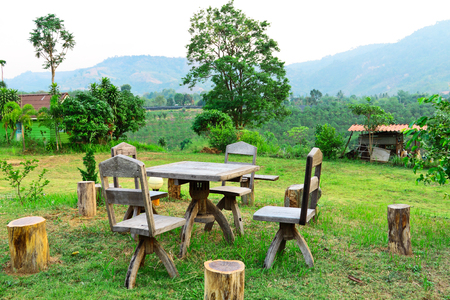recreate: Dinner garden and view of tropical in Loei