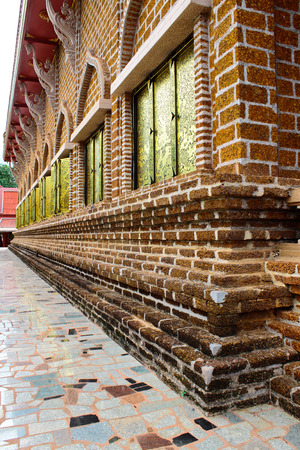 Exterior of Buddhist church in Loei,Thailand Stock Photo