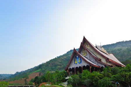 monastic: Church of Wat Pa Huay Lard,Loei,Thailand Stock Photo