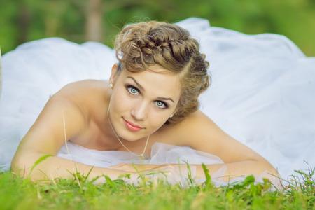 hair dress: Beautiful bride