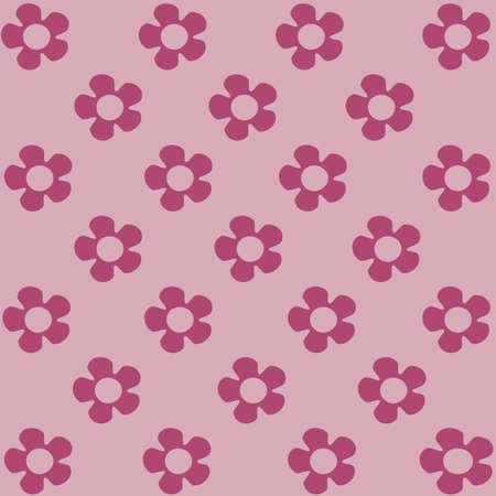 Background illustration with pink flowers Illustration
