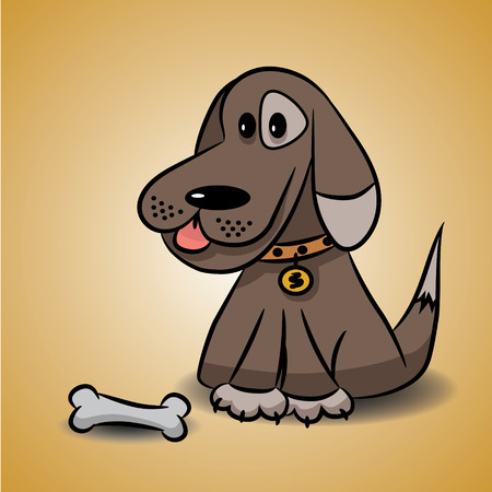 panting: The dog with a bone