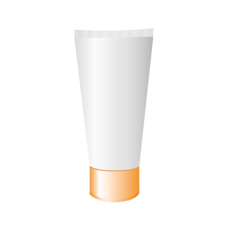 Tube cream isolated on white background