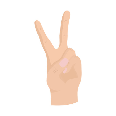 hand sign: Hand peace sign woman