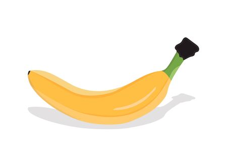 Banana on white background Illustration