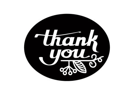 Vector Hand Lettering Thank You Card Stock Vector - 62966142
