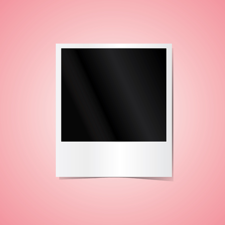 Photo frame isolated on pink background Stock Vector - 65315341