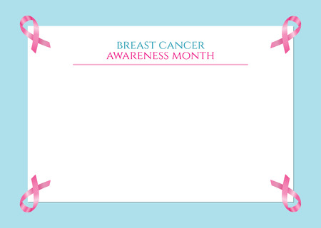 Form with the word Breast cancer awareness month Illustration
