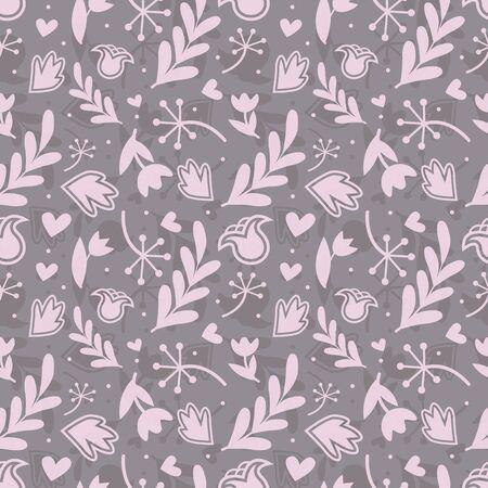 Seamless floral pattern. Vector illustration. Stock Vector - 74304355