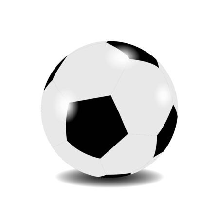 Football ball on white background. Vector illustration.