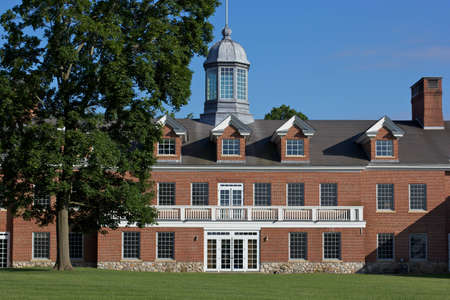private schools: Prep school yard, New England