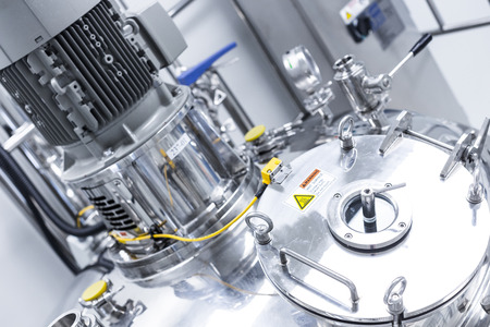 plant picture, clean room equipment and stainless steel machines Foto de archivo
