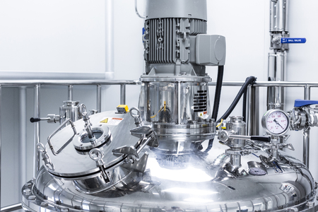 plant picture, clean room equipment and stainless steel machines Banque d'images