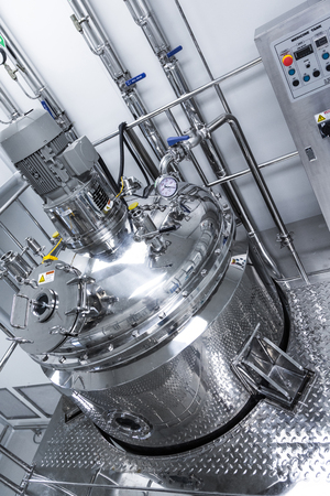 plant picture, clean room equipment and stainless steel machines Reklamní fotografie