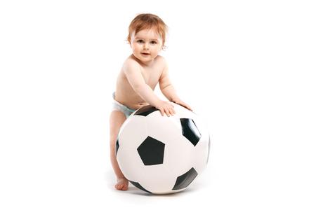 little boy with a soccer ball