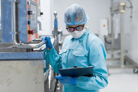 scientist conducting an audit of the company