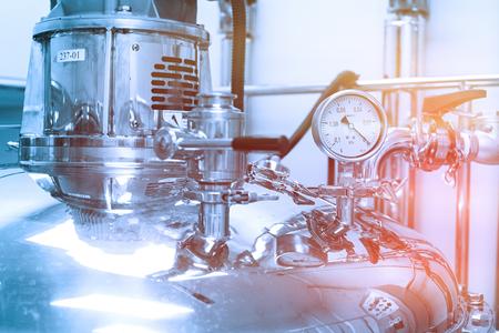 compressor tank with pressure meter