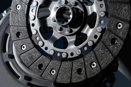 car part close-up clutch disc, luxury car parts.