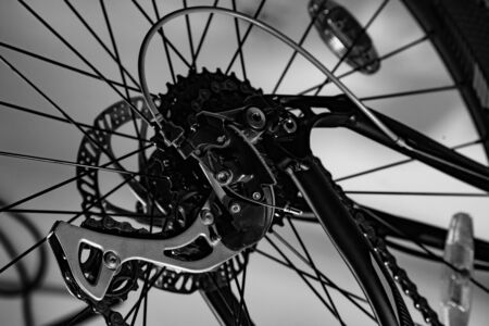 modern shot of new bicycle spare part made from different foreshortenings Stock fotó