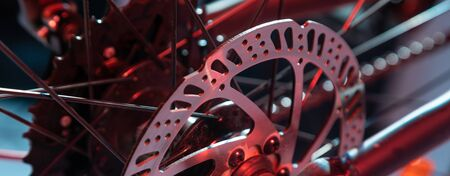 modern shot of new bicycle spare part made from different foreshortenings 스톡 콘텐츠
