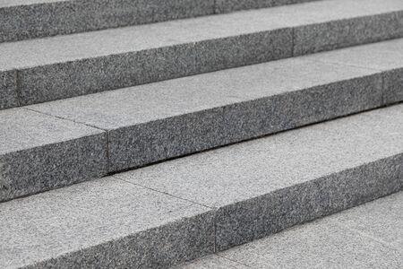 Diagonal view of grey stone pavement steps Stock fotó