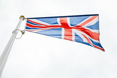 bottom view of flag of the United Kingdom
