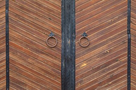 Brown wooden brown aged style gates,pattern seamless, texture