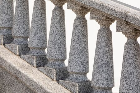 Close-up of granite tile balustrade of classic style