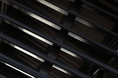 Black ventilation grid of new modern building