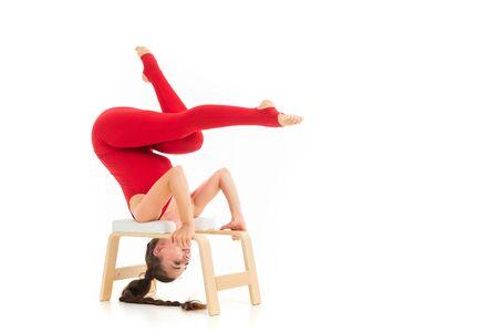 Young attractive woman practicing yoga Archivio Fotografico
