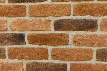 Modern brown brick wall texture background
