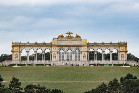 gloriette: The Gloriette overlooking the Schnbrunn Castle grounds Editorial