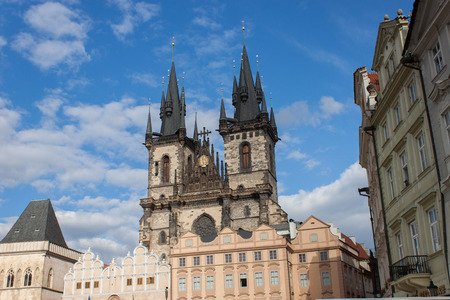 tyn: Church of Our Lady Before Tyn in Prague Stock Photo