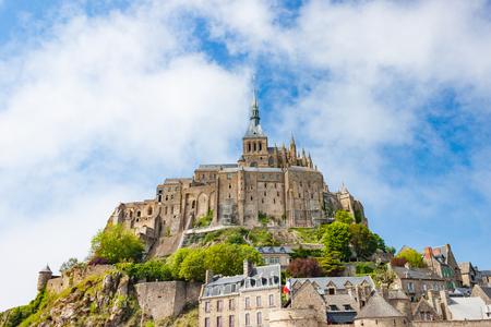mont saint michel: The Mont Saint-Michel fortress and abbey