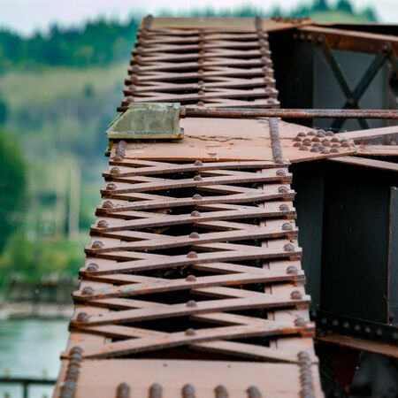 crossbars: Crossbars and Other Details on an Iron Bridge