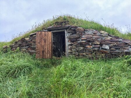 newfoundland: Root Cellar with Open Door in Newfoundland