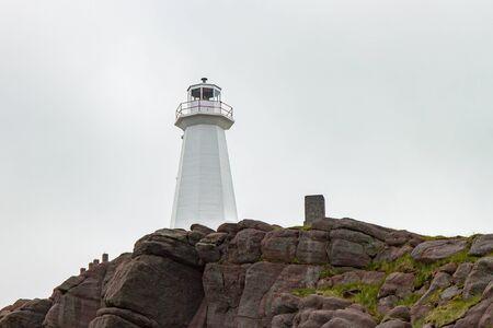 newfoundland: White Lighthouse at Cape Spear Newfoundland