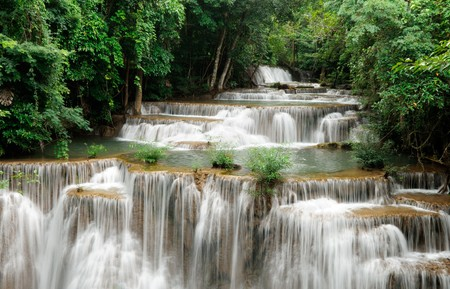 The waterfall in Srinararin Dam national park  Stok Fotoğraf