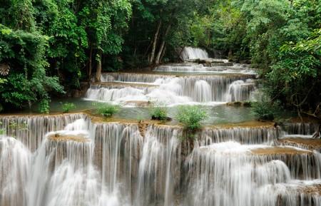 The waterfall in Srinararin Dam national park  photo