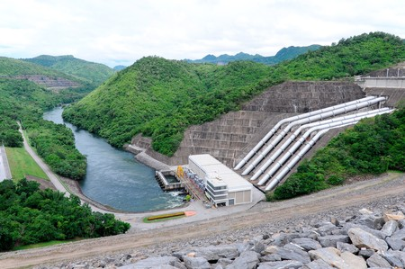 Power plants of Srinakarin Dam,Kanchanaburi Thailand