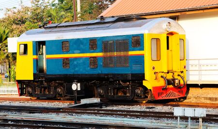 The diesel locomotive in the railwayyard Stock Photo - 7528234