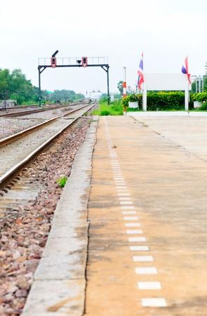 thialand: Platform of Bang-pa-in station,Ayuththaya Thialand
