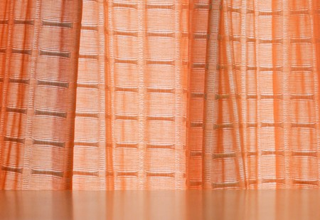 Orange curtain on the window of living room Stock Photo - 7756779
