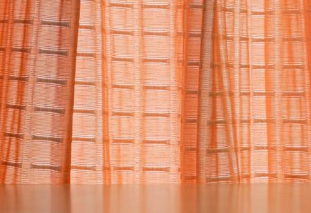 Orange curtain on the window of living room Stock Photo - 7756779