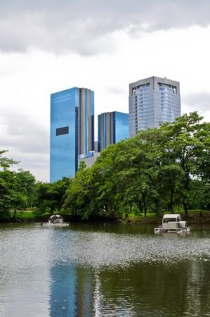 Green park in the center of Bangkok,Thailand photo
