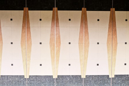 Patterns on the wall outside the meeting room of the resort Stock Photo - 7858279
