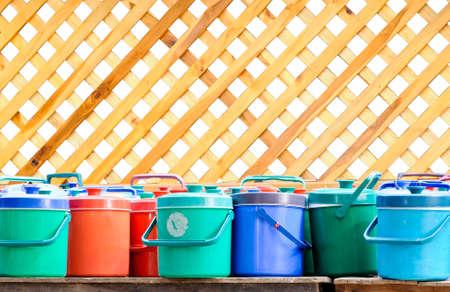 Colorful of ice bottle photo