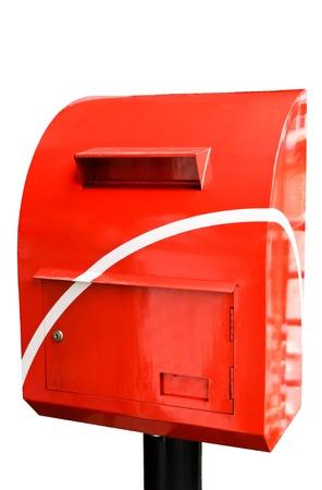 Modern mail box of Thai post on white background photo