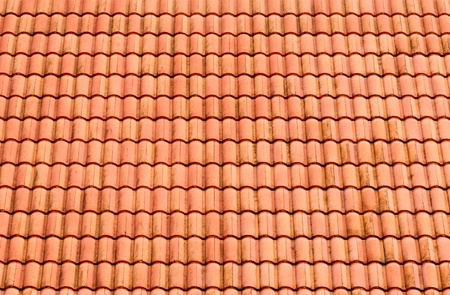 Pattern of red roof tiles on the temple Church photo