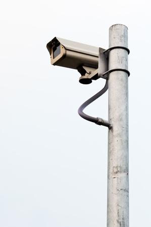 Modern CCTV on the pole inside urban park of Bangkok,Thailand Stock Photo - 9011753